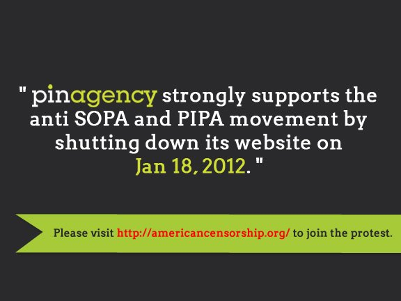 pinagency SOPA PIPA blackout