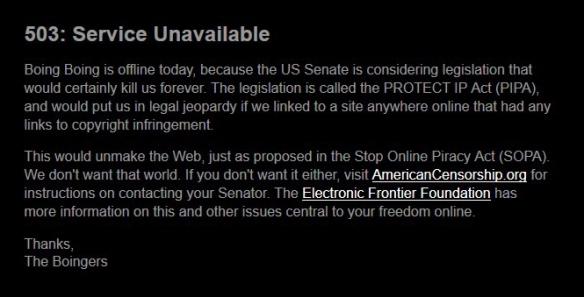boingboing SOPA PIPA blackout