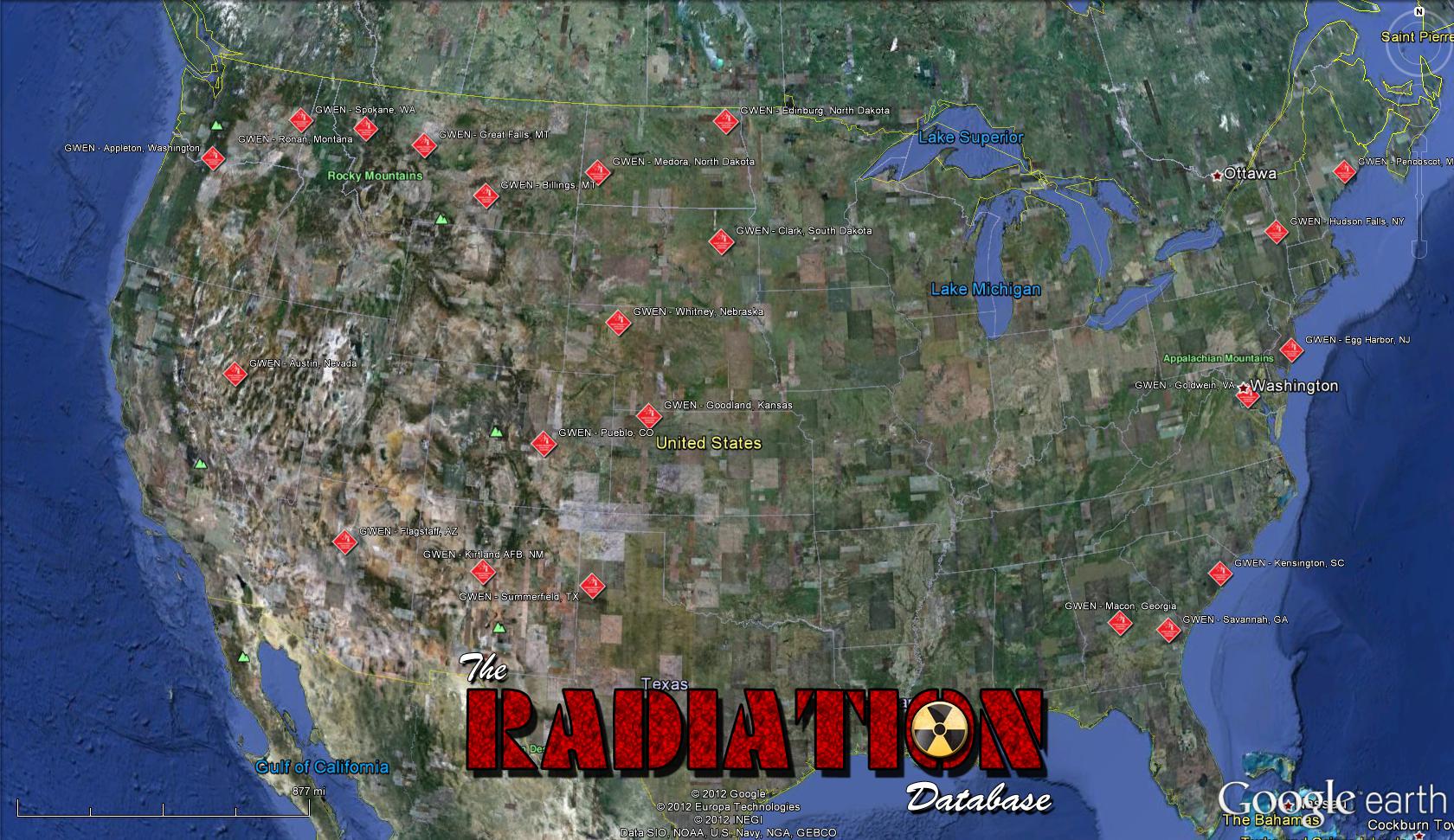 haarp GWEN locations TRDB