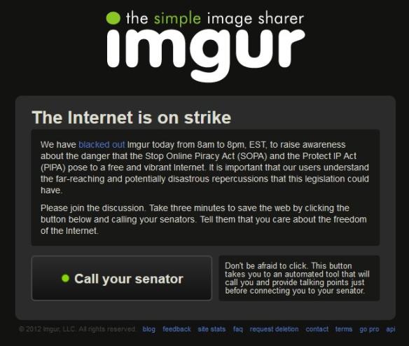 Imgur SOPA PIPA blackout