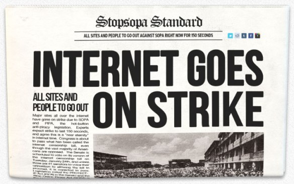 SOPA Internet Strike