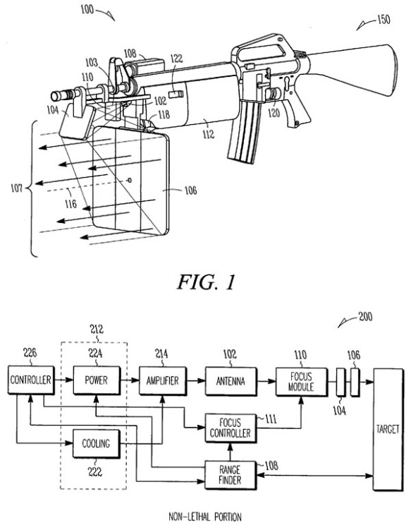 patent 20070040725 - LRAD on an M16