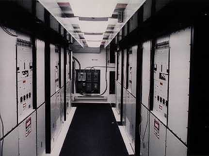 HAARP - transmitter shelter inside view