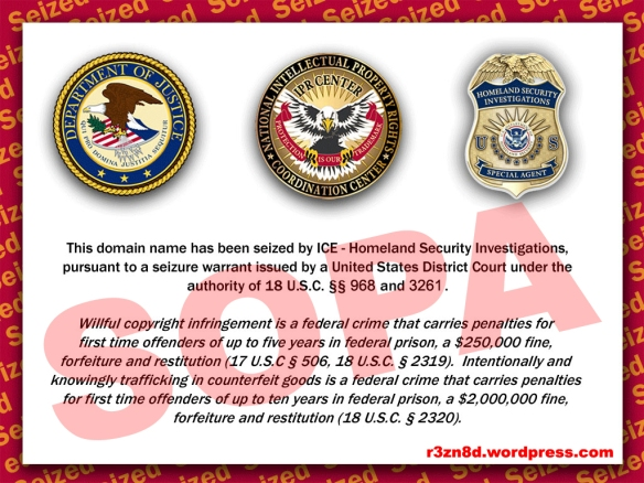 DHS SOPA website seizure notice