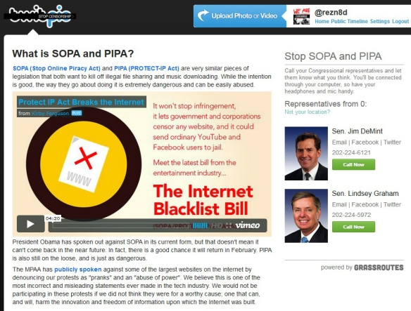 Twitpic SOPA PIPA blackout