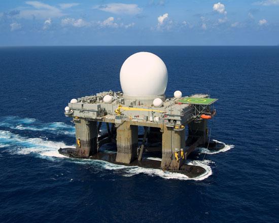 US Navy HAARP SBX platform