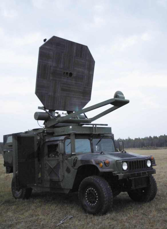 ADS - Active Denial System Humvee directed energy weapon