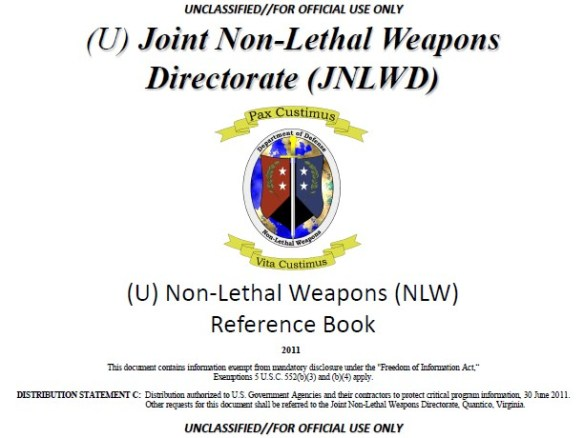 Joint Non Lethal Weapons Directorate JNLWD FOIA NLW Reference Book