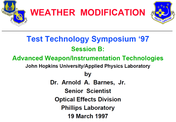 HAARP USAF Weather Modification 1997 01