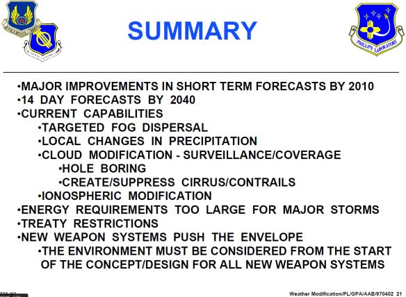 HAARP USAF Weather Modification 1997 06