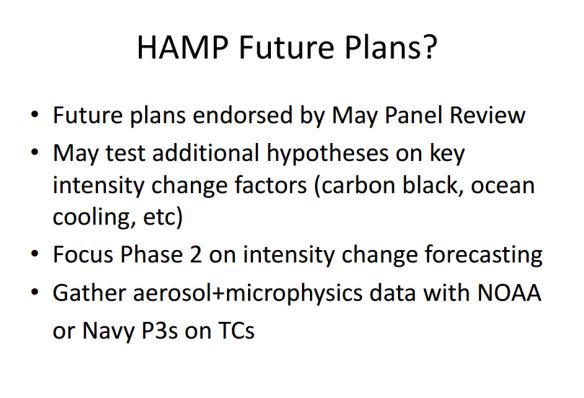 HAMP Future Plans