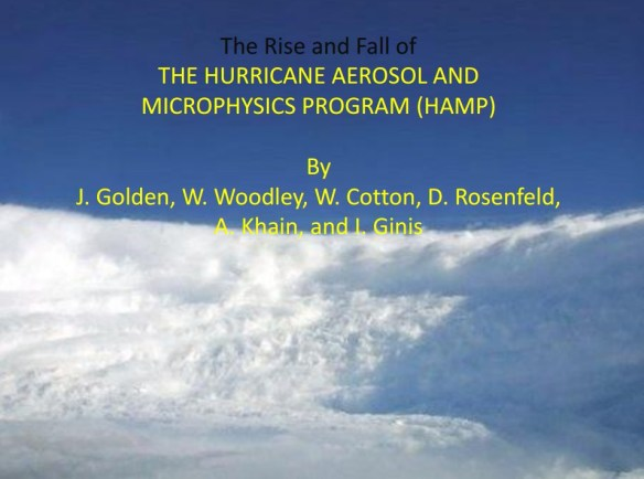 The Rise and Fall of the Hurricane Aerosol and Microphysics Program (HAMP) 2010