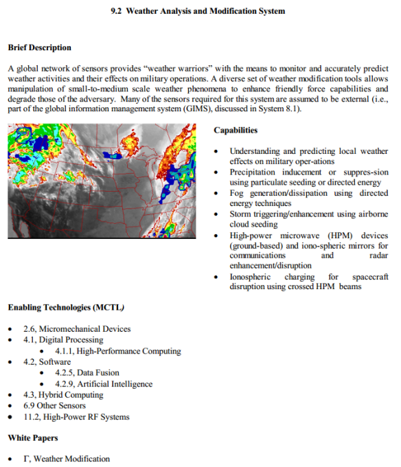 USAF 2025 - Weather Analysis and Modification System