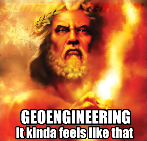 Geoengineering - It kinda feels like that