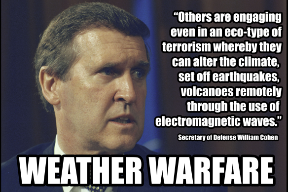 Secretary of Defense William Cohen - Eco-Terrorism