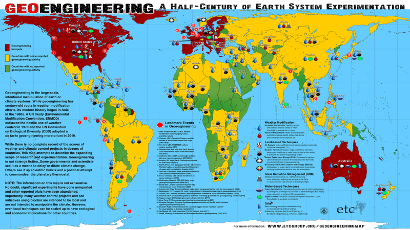 World-of-Geoengineering-etc, programas de geoengenharia de grupos